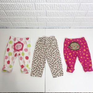 Set of 3 {6 month old} infant girls pants